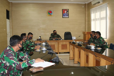 Pang Lima Komando Pertahanan Udara Nasional Adakan Briefing