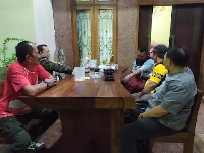 Ike Edwin Sambangi Kediaman Ketua PWI Lampung