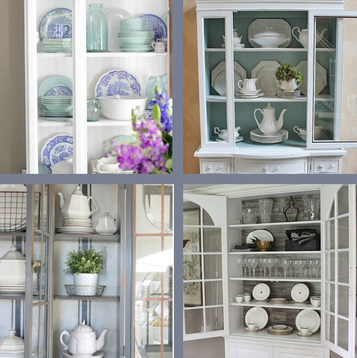 i should be mopping the floor China Cabinet Styling Ideas