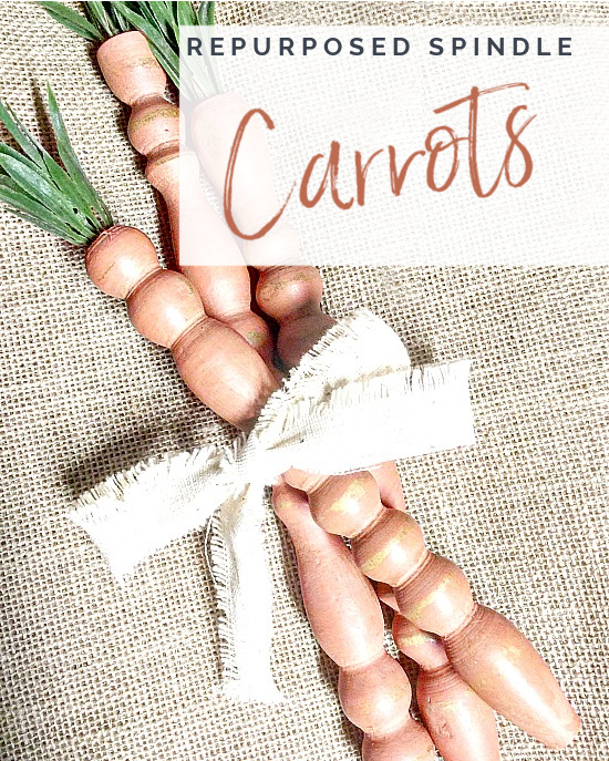 bunch of spindle carrots with overlay