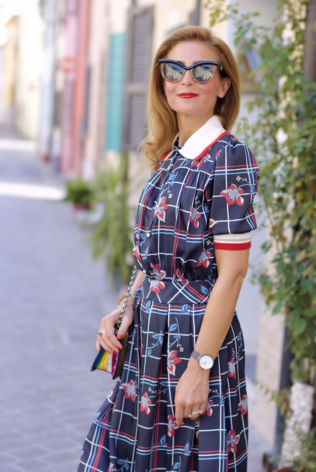 Miu Miu style white collar dress on Fashion and Cookies fashion blog, fashion blogger style