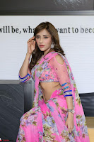 Actress Angela Krislinzki in Pink Saree Blouse Exclusive Pics March 2017 ~  038.JPG