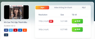 Cách tải video từ Youtube, Facebook, TikTok.