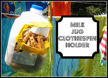 Milk Jug Clothespin Holder
