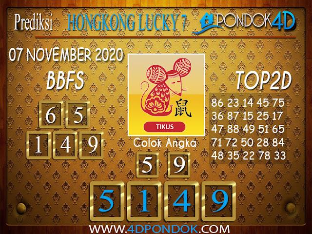 Prediksi Togel HONGKONG LUCKY 7 PONDOK4D 07 NOVEMBER 2020