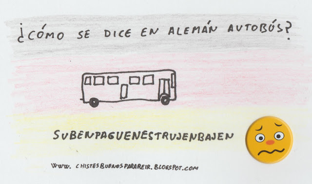 ¿Cómo se dice en alemán autobús?... suben paguen estrujen bajen