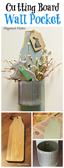 Herb Wall Pot From Thrift Shop Board www.organizedclutter.net