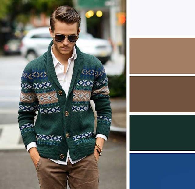 Zor bir renk kombinasyonu Koyu yeşil ve kahverengi