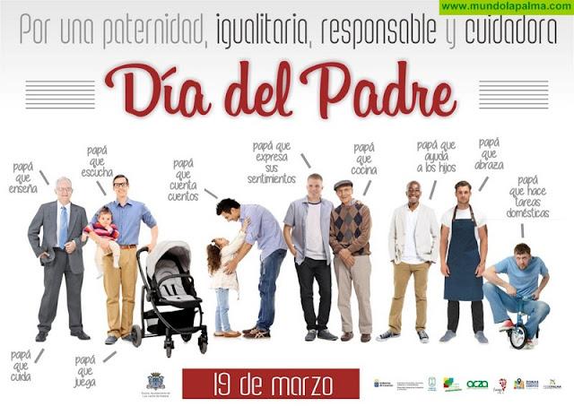 Ayuntamiento de Los Llanos y empresarios promueven una campaña del Día del Padre igualitaria, responsable y cuidadora