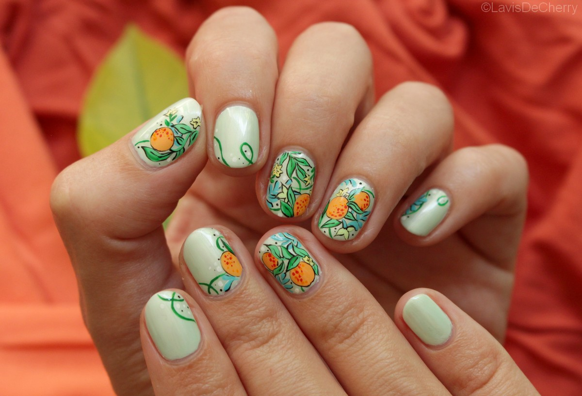 Nail-art-imprimé-agrumes-pastel-birchbox