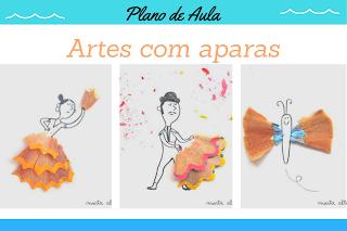 Atividade artes na Educação Infantil com aparas de lápis de cor BNCC