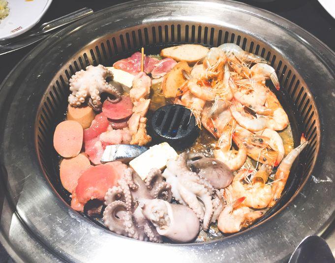 Grilling at Tong Yang Shabu-Shabu and Barbecue