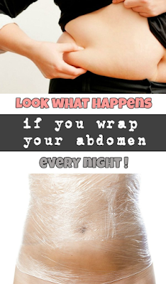 Look what happens if you wrap your abdomen every night!