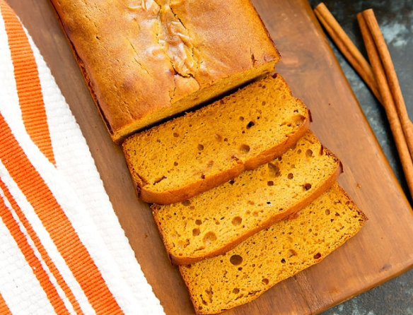 FLOURLESS PUMPKIN BREAD #healthy #diet #party #pumpkin #bars