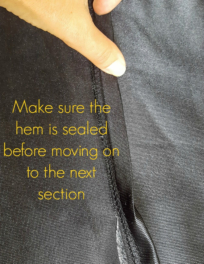 easy no-sew grad gown alterations