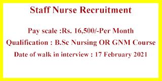 Staff Nurse Recruitment - Government of Chhattisgarh