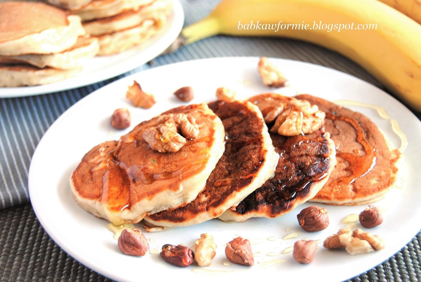 placuszki bananowe na śniadanie babkawformie.blogspot.com