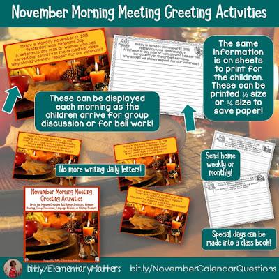 https://www.teacherspayteachers.com/Product/November-Morning-Meeting-Greeting-Activities-4111596?utm_source=blog%20post&utm_campaign=Nov%20calendar%20questions