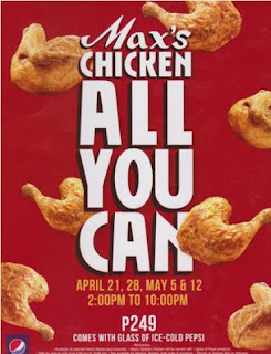 Maxs Chicken all you can, Maxs eat all you can