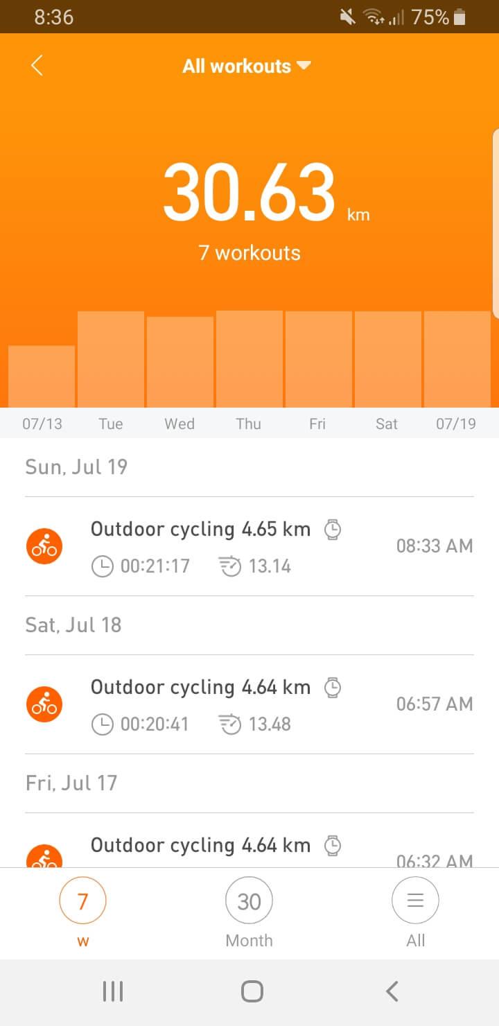 6 hari berturut turut bersepeda
