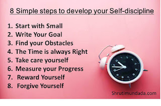 8 Simple steps to develop your Self-discipline