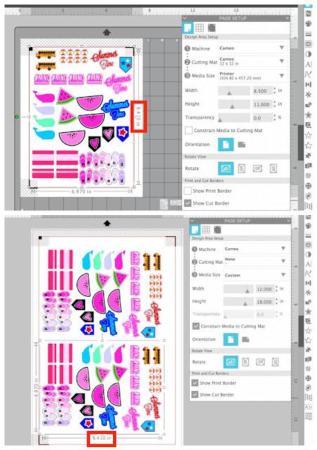 "20"" Silhouette CAMEO Pro, Print and Cut, 15"" Silhouette CAMEO Plus, Sticker Paper, Stickers"