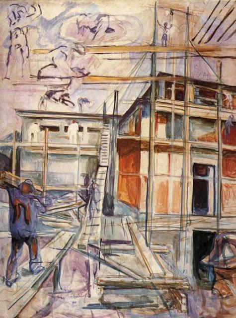 Эдвард Мунк - Строительство зимней студии. Экли. 1929