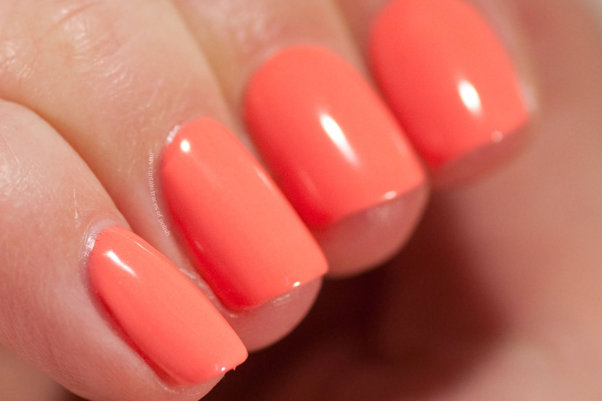 Pink Gellac Swatches - 244 Hawaii Orange