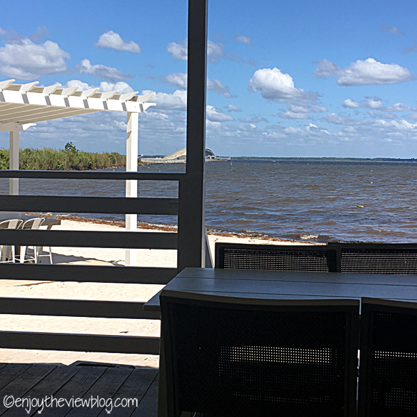 Adventures of Gus and Kim: Lunch in Destin - The Bay! We love going out for lunch when we're on vacation! The Bay not only offers delicious food - you also get a wonderful view