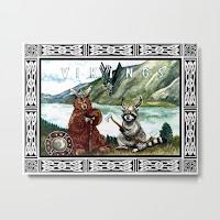 Vikings Metal Print from Society6