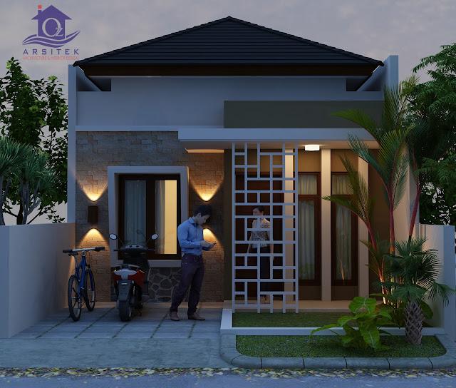 Desain Eksterior Rumah Bapak Canda di Lamongan