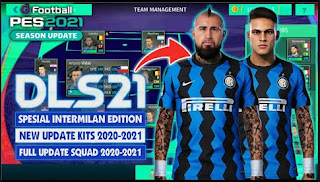 Download Dream League Soccer MOD PES 2021 Spesial Inter Milan Edition