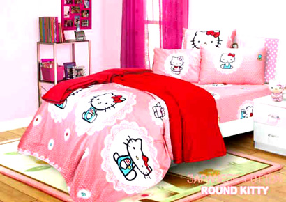 Sprei Anak Kitty Pink
