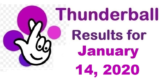 Thunderball Results for Tuesday, January 14, 2020