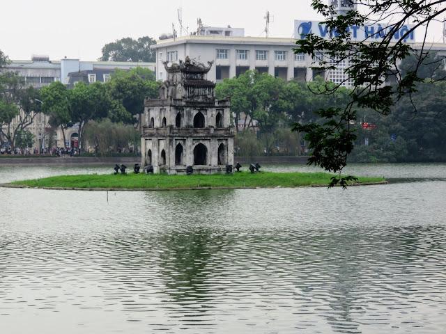 "Tháp Rùa, aka ""Tortoise Tower"" in Hanoi Vietnam"