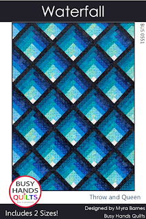 Waterfall Quilt Pattern by Myra Barnes of Busy Hands Quilts