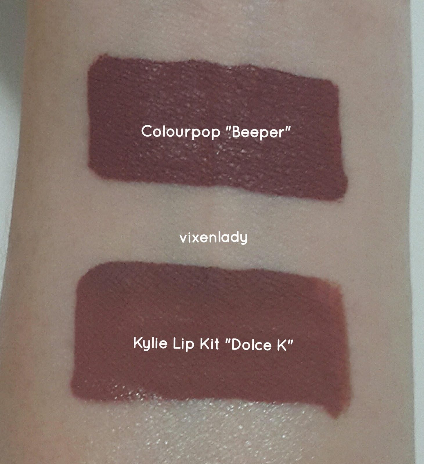 Kylie Lipkit Dolce K Review Swatch Dupe