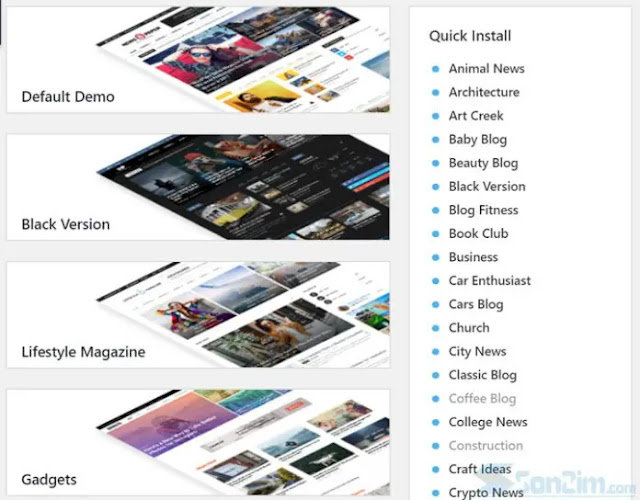 More than 50 beautiful and attractive Demo templates available