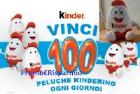 Logo Kinder ''Vinci 100 peluche Kinderino al giorno'' ( 2100 in tutto)