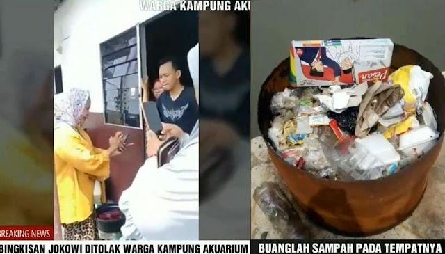 Warga Korban Gusuran Ahok Tolak Bingkisan 01 dan Dibuang ke Tong Sampah