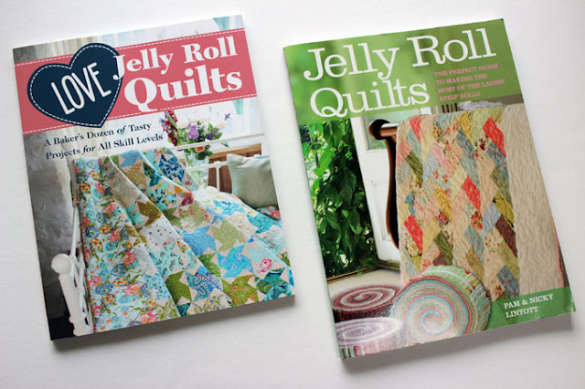 2 jelly roll quilt books on display