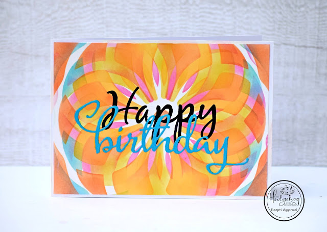 Mandala birthday card