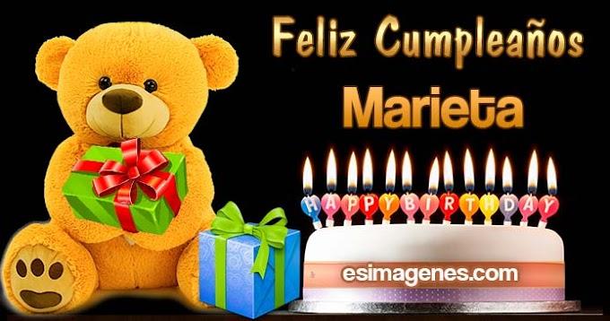 Feliz Cumpleaños Marieta