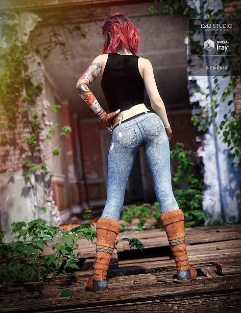 Urban Action Outfit for Genesis 8 Female