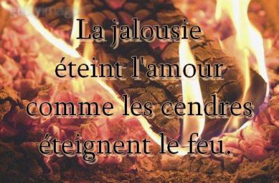 La jalousie éteint l'amour