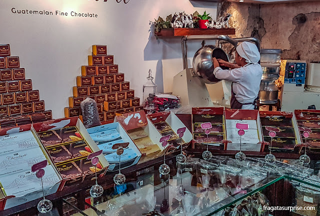 fábrica de chocolates finos Chocolarti, Antigua, Guatemala
