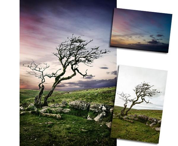 Быстрая замена неба на пейзаже в Фотошопе