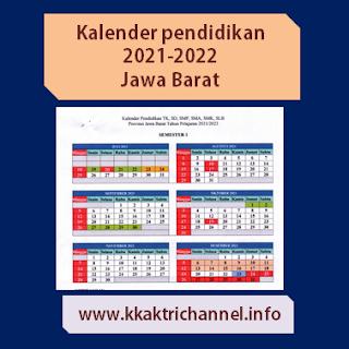 Kalender Pendidikan 2021-2022 Provinsi Jawa barat