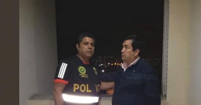 Policía detuvo a excongresista Benicio Ríos, acusado por el delito de colusión en agravio del Estado cuando fue alcalde de Urubamba en Cusco