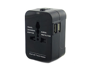 Worldwide Power Adapter & Travel Charger with Dual USB